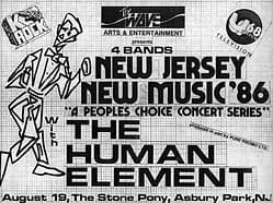 The Human Element: New Music '86 Flyer