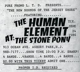 Our First Show Ticket @ The Stone Pony