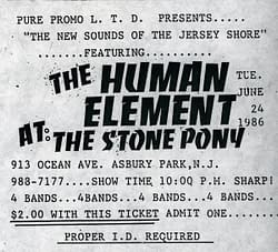 The Human Element: 1st show ticket-single