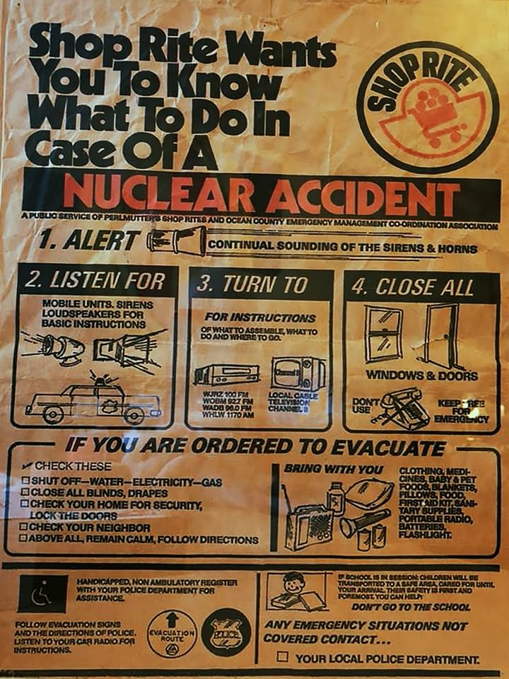 Shop Rite Wants You To Know What To Do In Case Of A Nuclear Accident