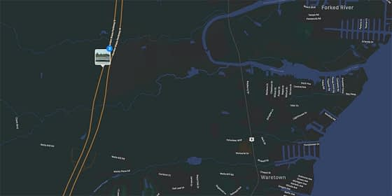 Garden State Parkway Fire Map